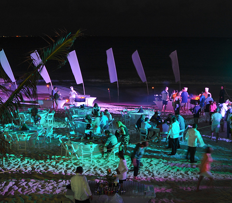 Outdoor Event Lighting - Cancun Mexico Event Design