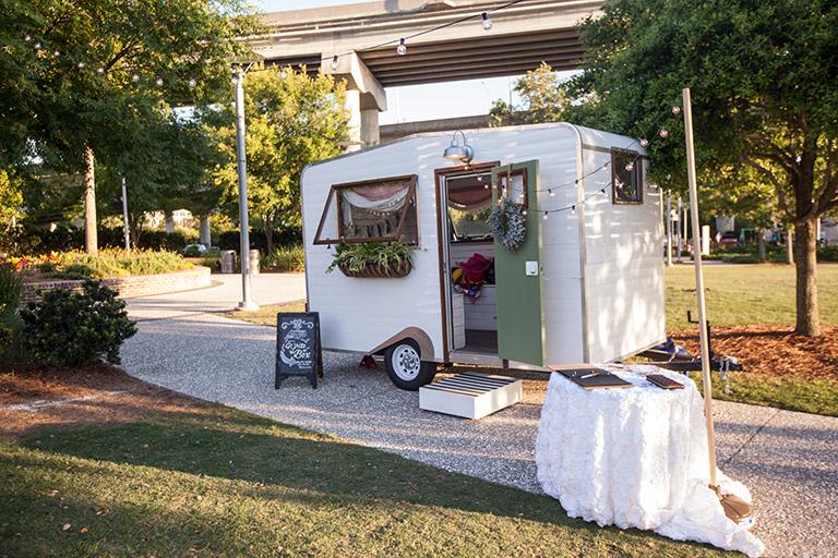 Boho Wedding Photo Booth Vintage Camper - Charleston Wedding Planning
