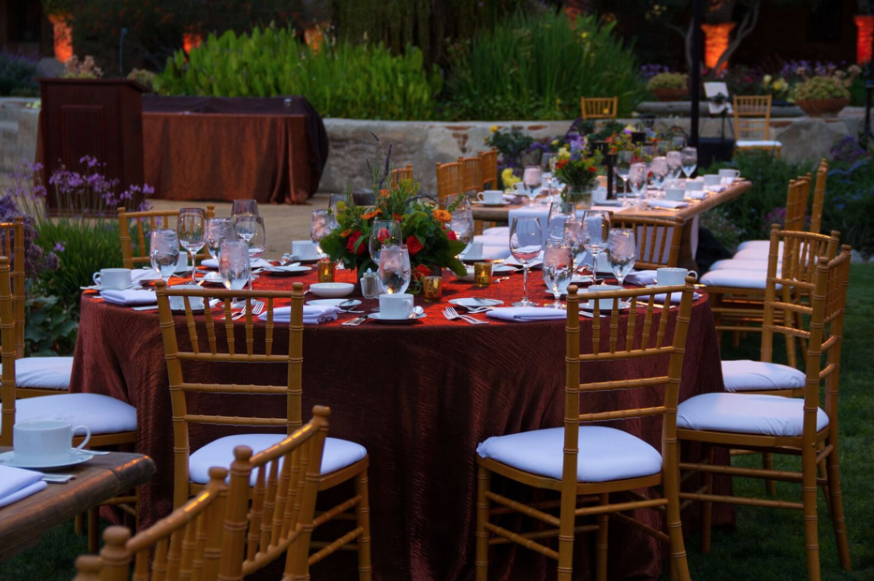 Outdoor Corporate Dinner at Mission Capistrano in Southern California | Incentive Travel Planning